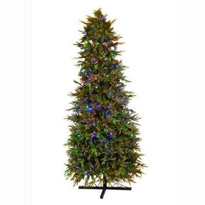 9.5' One Plug Pre-lit Fraser Fir Tree with dual color changing LED