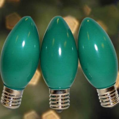 C9 Bulbs Opaque Green
