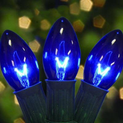 Incandescent C9 Transparent Blue