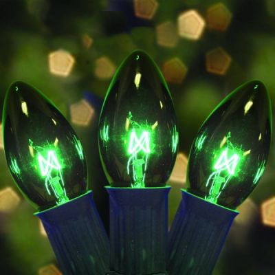 C9 Bulbs Transparent Green