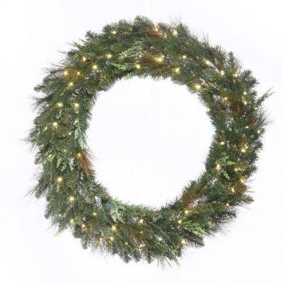 LED-60MCWRWWC - LED Mixed Cedar Pine Wreath - 60