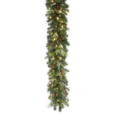 LED-9MPGWWC - LED Mountain Pine Garland - 9'