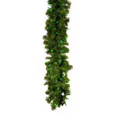 LED 9' Garland Concave (Green)