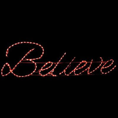 LED Believe Sign (Red)