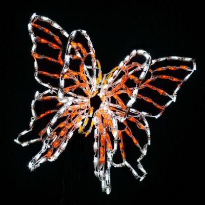 LED 3D Animated Butterfly SwallowTail Orange