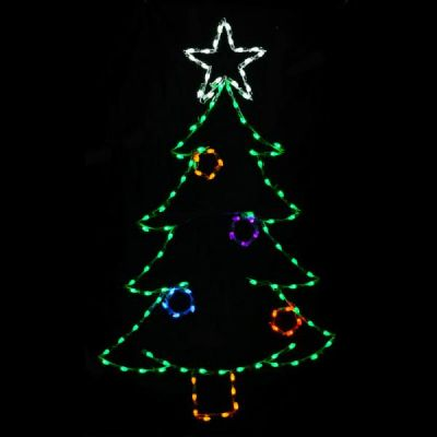 LED C7 Christmas Tree w/ Ornaments