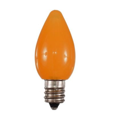 LED C7 Bulbs Opaque Orange