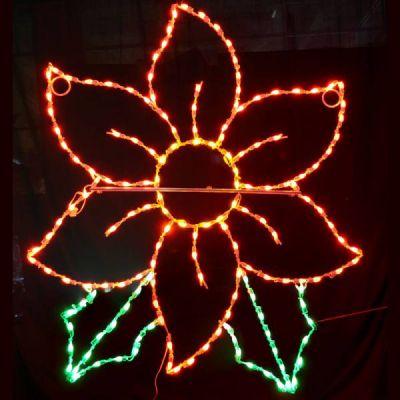 LED C7 Poinsettia