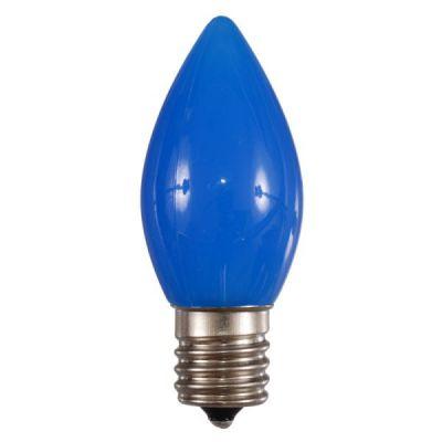 LED C9 Bulb Opaque Blue
