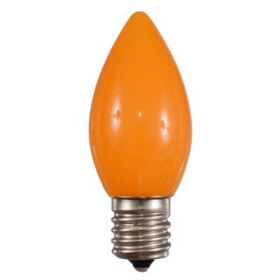 LED C9 Bulbs Opaque Orange