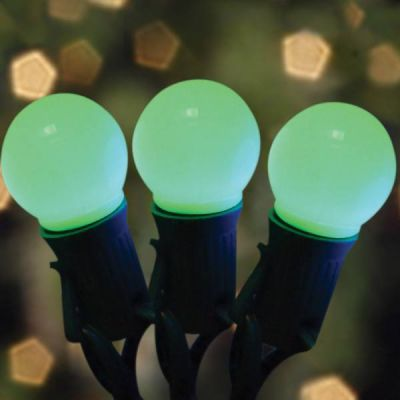 LED G32 Opaque Green Bulbs
