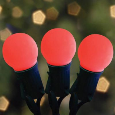 LED G32 Opaque Red Bulbs