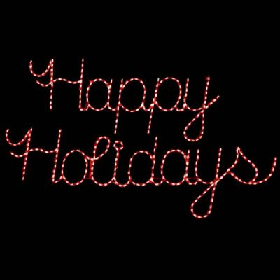 LED Happy Holidays (Red)