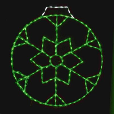 LED Snowflake Ornament 36