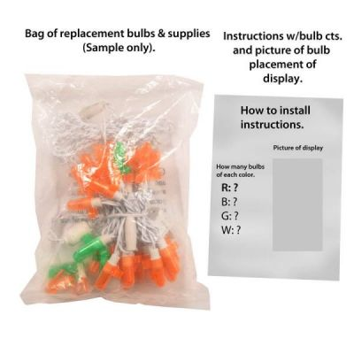 LED 3D Pumpkin Replacement Strand (12