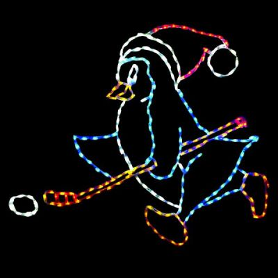 LED-PNH48-L - LED Hockey Penguin - Left