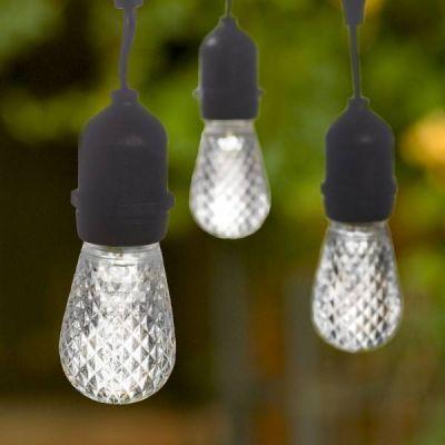 LED S14 Tivoli Bulb Plastic White