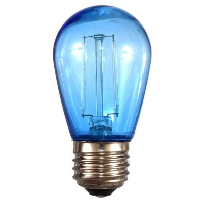 LED S14 Smooth PC Bulb Blue