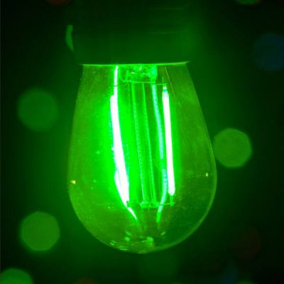 LED S14 Smooth PC Bulb Green
