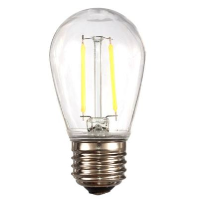 LED S14 Smooth PC Bulb White