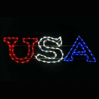 LED USA Sign RWB