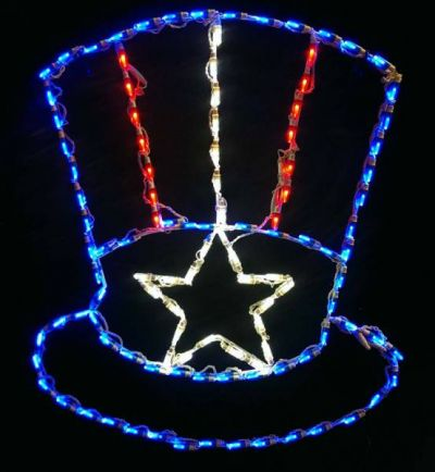 LED Uncle Sam Hat RWB