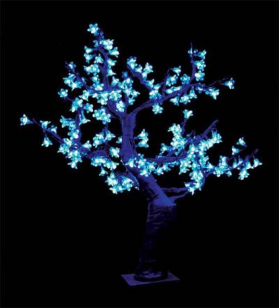 Cherry Blossom Table Top Tree Blue