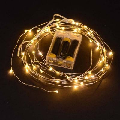 Wire Lights - 50 Bulbs Battery Operated (Warm White)