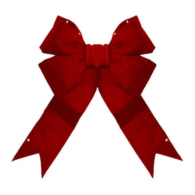"24"" 4-Loop Velvet Bow (Red)"