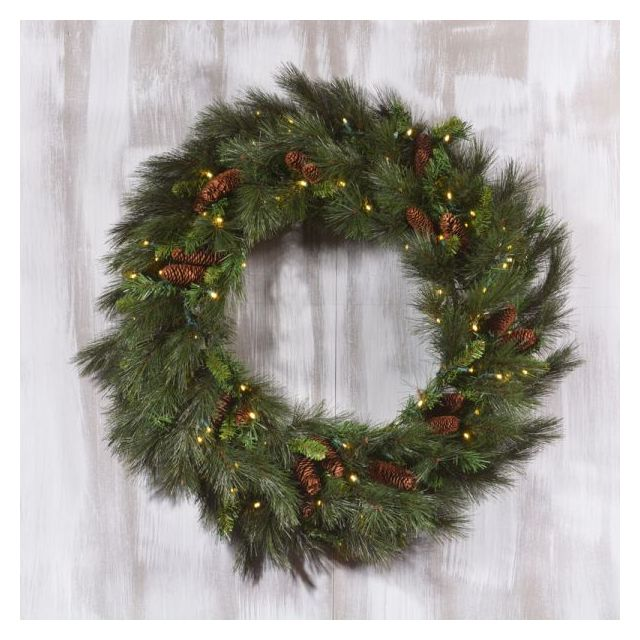 LED 36 in Mixed Noble Wreath with Warm White Light
