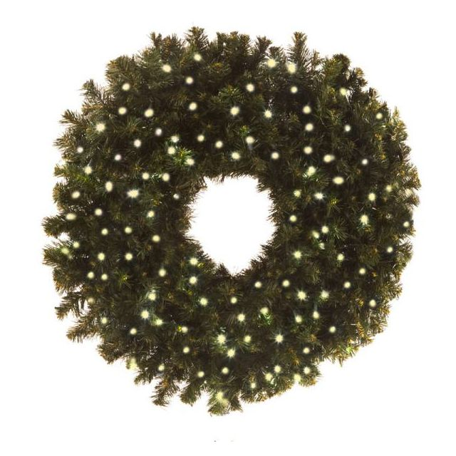 "LED 36"" Wreath Concave (Warm White"
