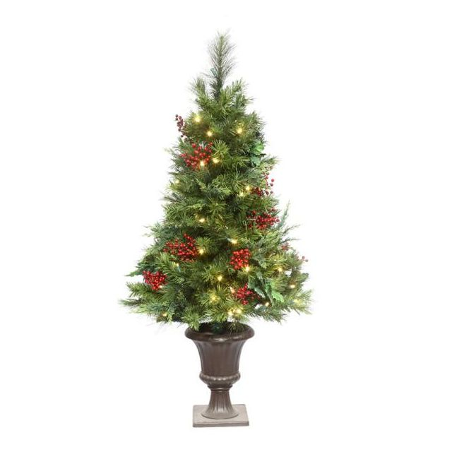 "LED 48"" Estate Potted Tree Warm Whit"