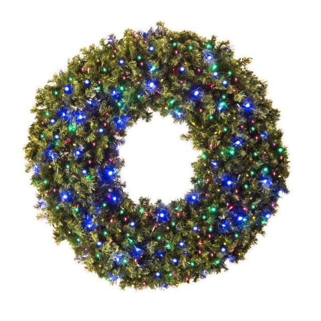 "LED 60"" Wreath Concave (Multi"