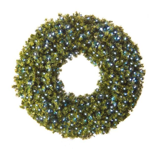 "LED 60"" Wreath Concave (White"