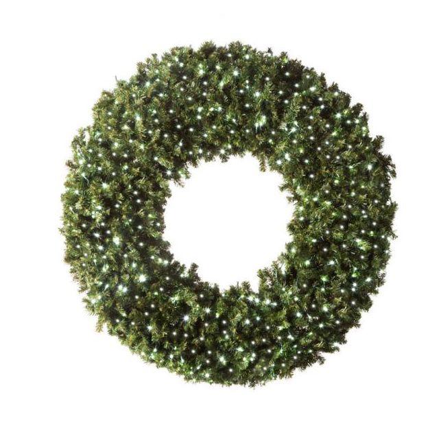 "LED 72"" Wreath Concave (White"
