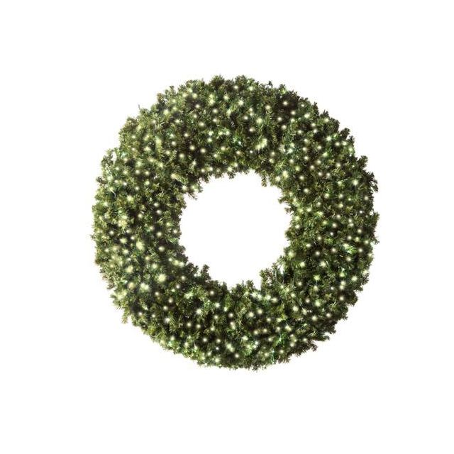 "LED 72"" Wreath Concave (Warm white"
