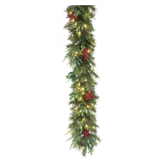 9' Estate Garland Warm White