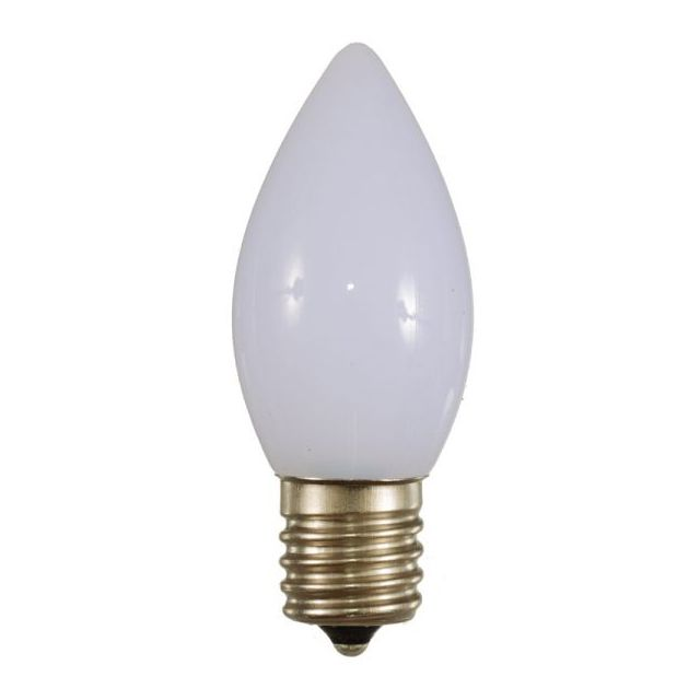 LED C9 Bulbs Opaque White