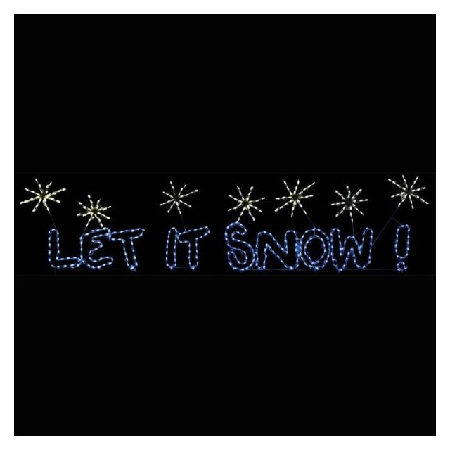 LED Let it Snow Sig