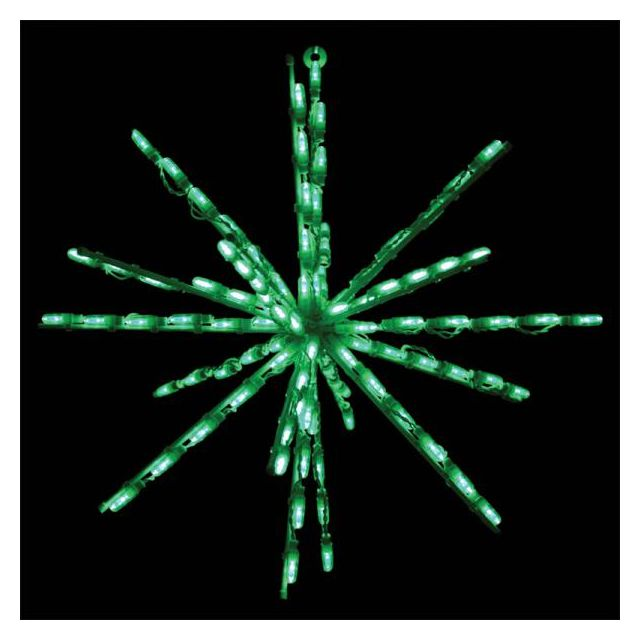 "LED 24"" Green Starburst lights"