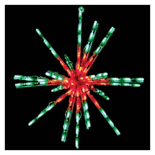 "LED 24"" Red/Green Starburst"