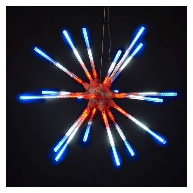 "LED 24"" Animated Starburst Same Step Red/White/Blu"
