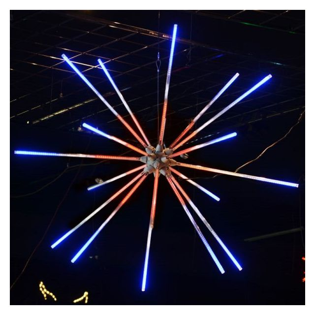 "LED 48"" Animated Red, White, and Blue Starburst"