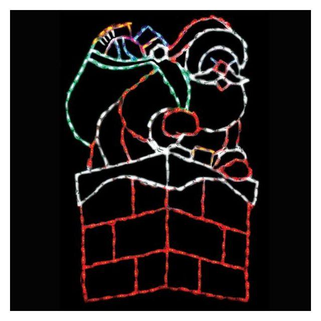 LED Santa in Chimne