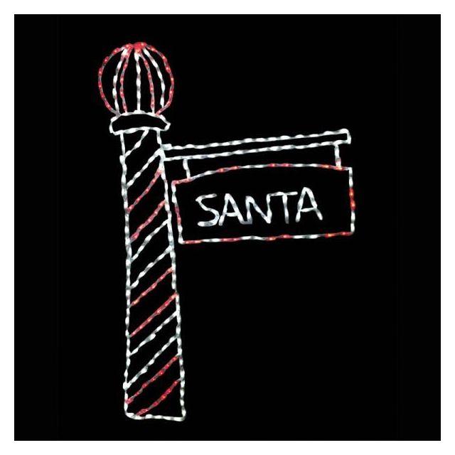 LED Santa's Light Pol
