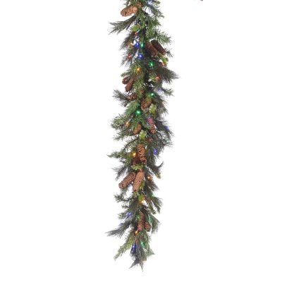LED 9' Mixed Noble Garland - Multi Concave