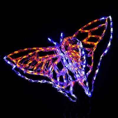 LED 3D Animated Butterfly SwallowTail Yellow