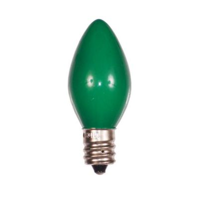C7 Bulbs Opaque Green