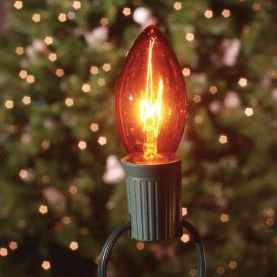 C7 Bulbs Transparent Amber