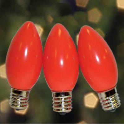 C9 Bulbs Opaque Amber